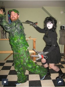 This one just cracked me up.  Halloween couples costume via Popsugar.com