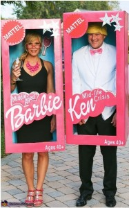 Ken & Barbie together again -- just not exactly how you remembered them...Hilarious Halloween couples costume via CostumeWorks.com